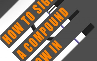 how to sight a compound bow in