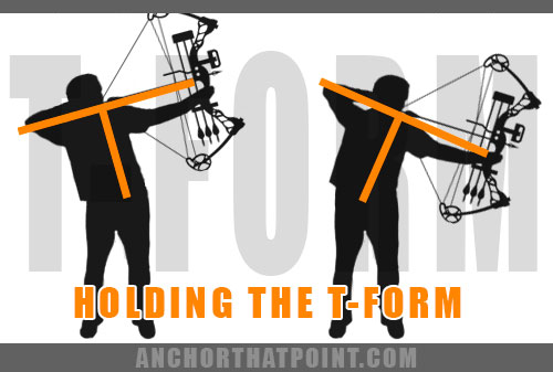 holding the t-form in archery