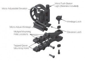 TruGlo Carbon Hybrid 5 Pin Bow Sight Parts