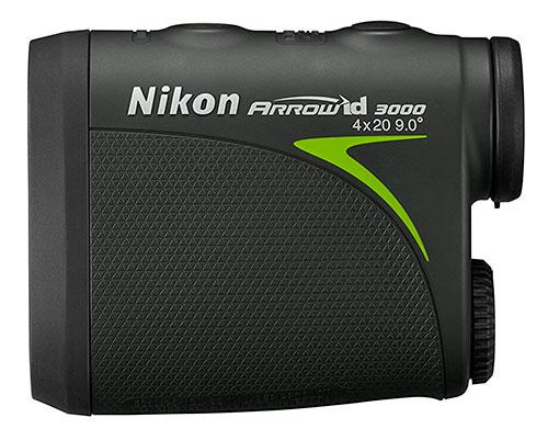 Nikon Arrow ID 3000 Bowhunting Laser Rangefinder Side View