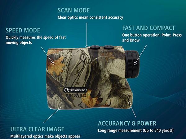 TecTecTec ProWild Hunting Rangefinder Features 1