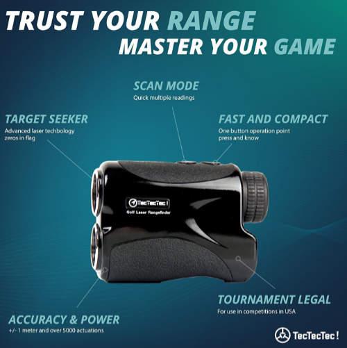 TecTecTec VPRO500 Golf Laser Rangefinder Modes